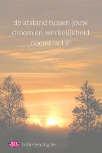 De afstand tussen jouw droom en werkelijkheid, heet actie.