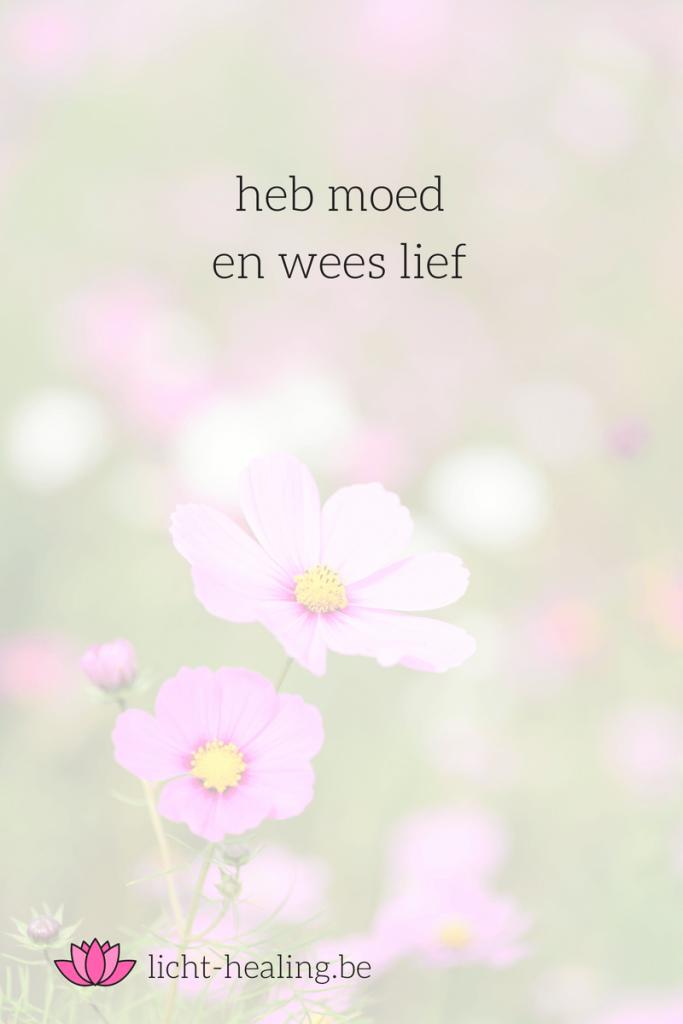 heb moed en wees lief, mantra, geluk, zelfhulp, depressie, quote, nederlands, coach, zelf liefde, mindset