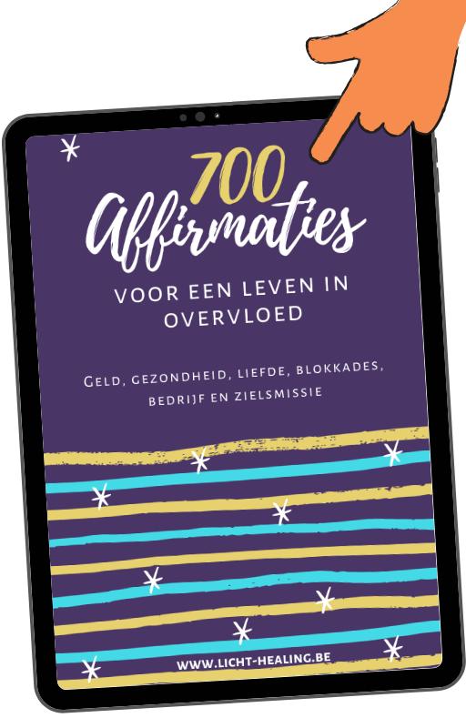 700 affirmaties in 6 thema's die jou helpen te leven vanuit overvloed. Geld, liefde, gezondheid, blokkades, passie, bedrijf en zielsmissie